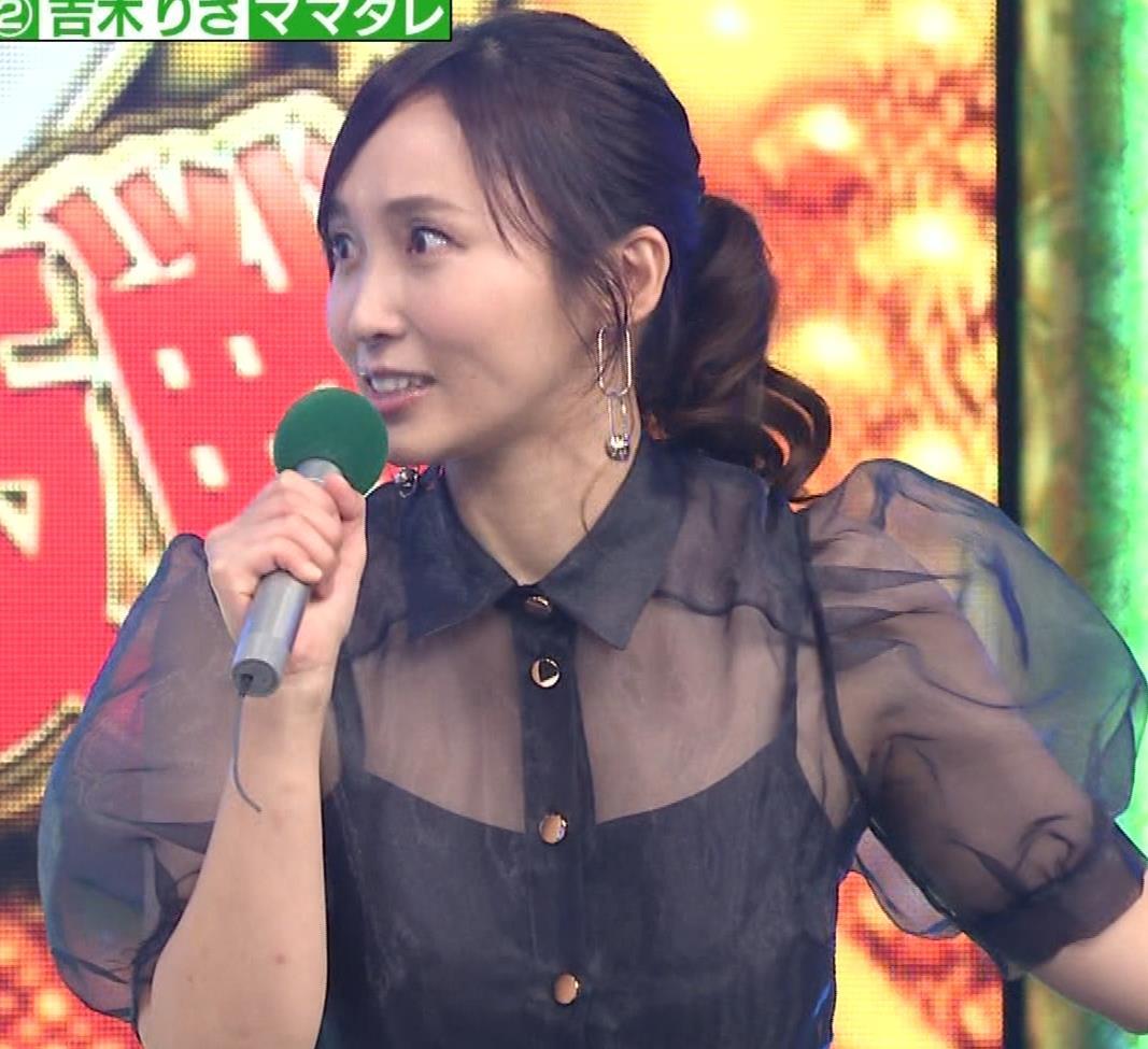 吉木りさ カラオケで透け衣装キャプ・エロ画像10