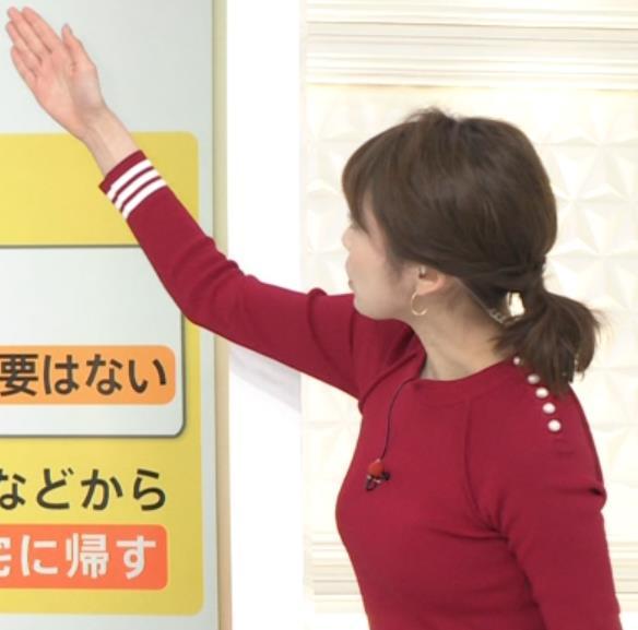 良原安美アナ ニットおっぱいキャプ・エロ画像2