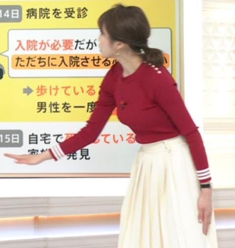 良原安美アナ ニットおっぱいキャプ・エロ画像3