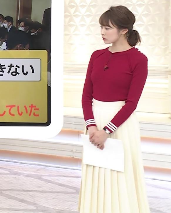 良原安美アナ ニットおっぱいキャプ・エロ画像8
