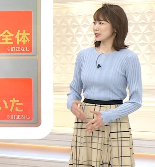 良原安美アナ ニットおっぱいキャプ・エロ画像4