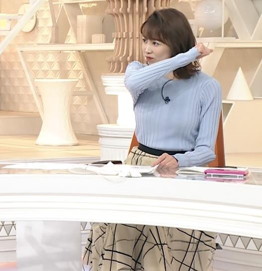良原安美アナ ニットおっぱいキャプ・エロ画像5