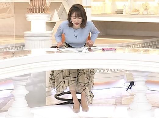 良原安美アナ ニットおっぱいキャプ・エロ画像7