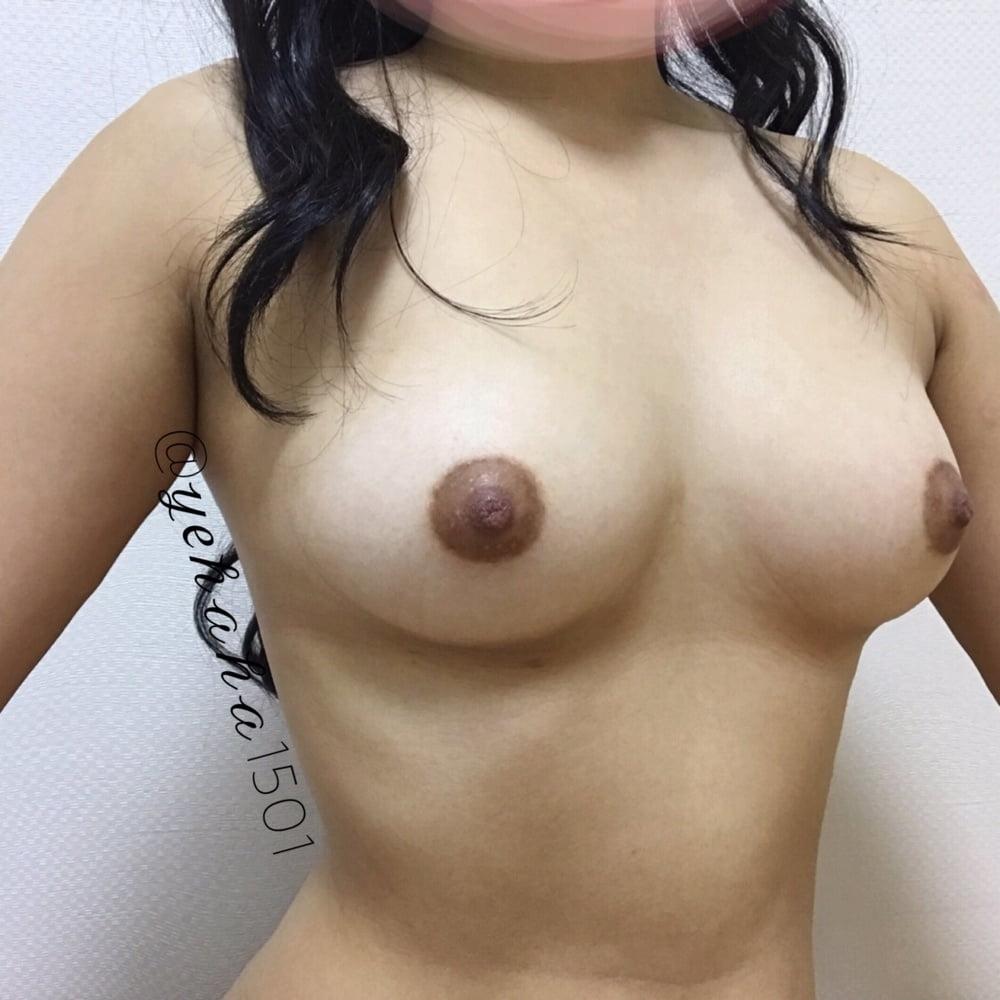 韓国素人美女の自分撮りおっぱい画像 5