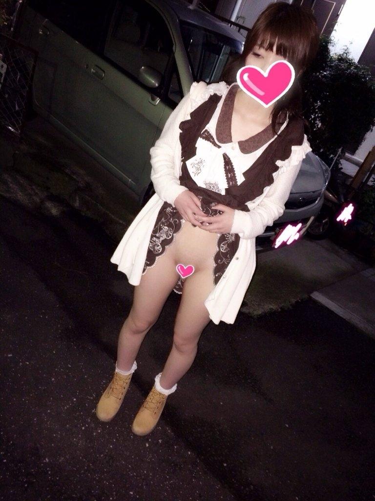 調教されてる美少女の晒されヌード画像 1