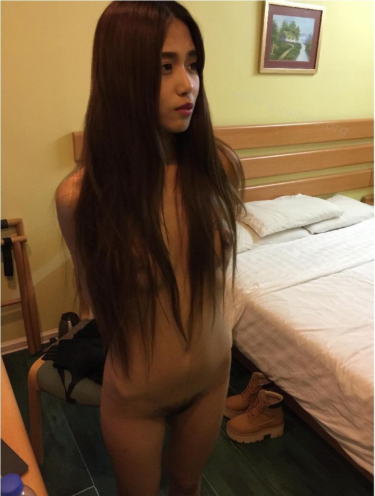 ロングヘアー&スレンダーなアジアン素人美女のヌード画像 5