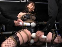 口枷緊縛された女スパイが肢体を蹂躙する電マ責めに悶絶昇天 - Pornhub.com - 201020-163507
