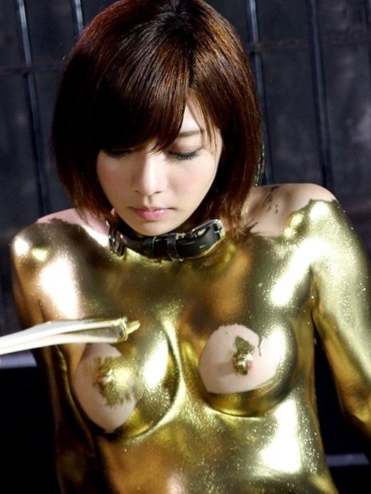 金粉ヌード画像 02