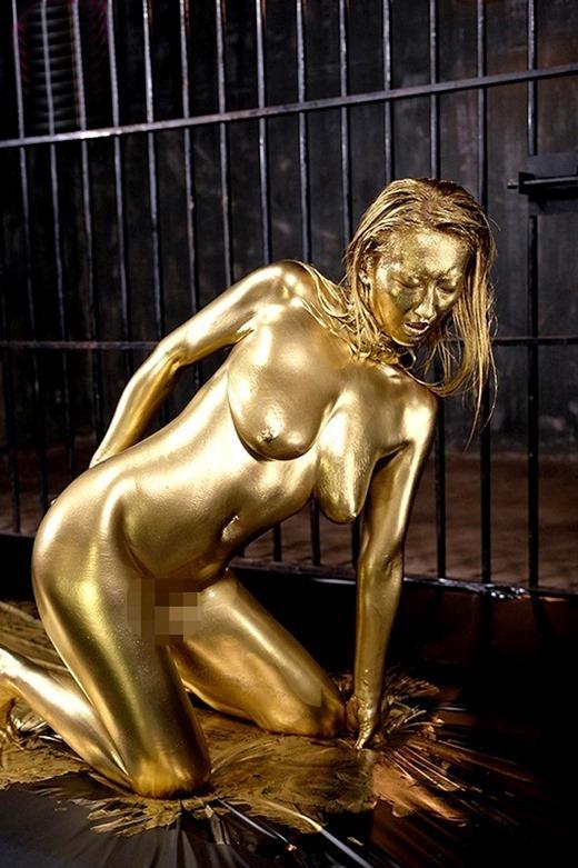 金粉ヌード画像 45