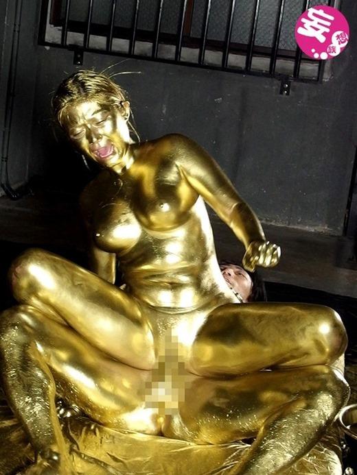 金粉ヌード画像 76