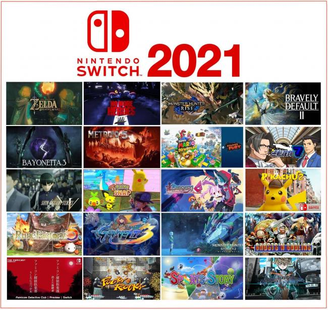 【画像】Switchの2021年のラインナップが凄すぎると海外で話題に