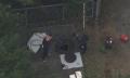 防火貯水槽内で遺体を発見