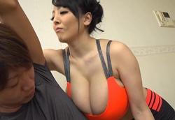 【痴女】Oカップ爆乳オッパイで密着圧迫ヨガインストラクターWちんぽ抜き!Hitomi1