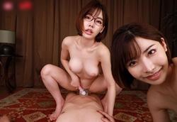 【VR】姉妹丼 逆3P 前後左右から囁かれながら痴女られる犯されハーレムVR!深田えいみ1